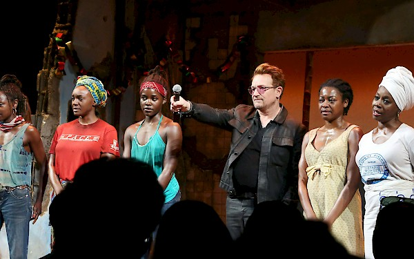 Bono and the Broadway cast of ECLIPSED