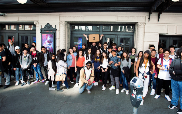 Mission High School students at March 2017 Curran ECLIPSED Student Matinee