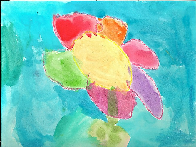 Painting by Mila, 5 years old