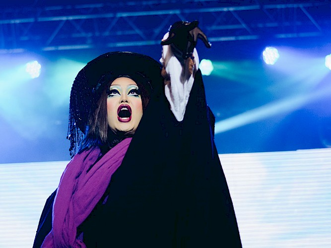 Kim Chi performs in Werq the World.