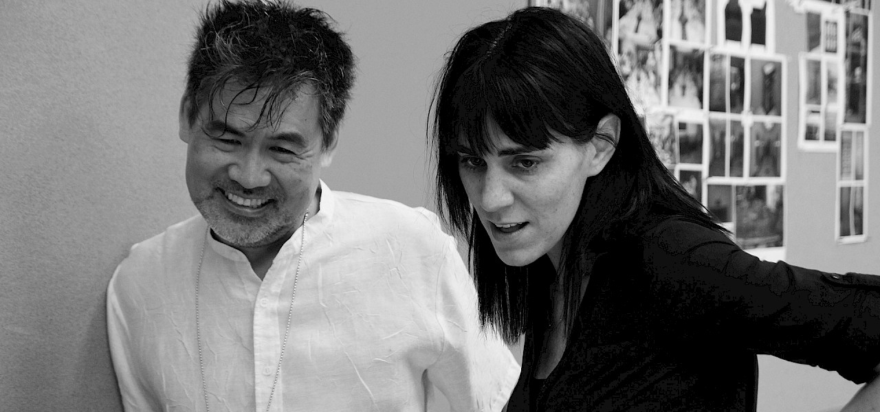 David Henry Hwang and Leigh Silverman in rehearsal for