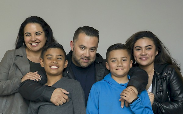 The Cordoba family (L to R): Nieves, Nate, Armando, Alex, Tatianna