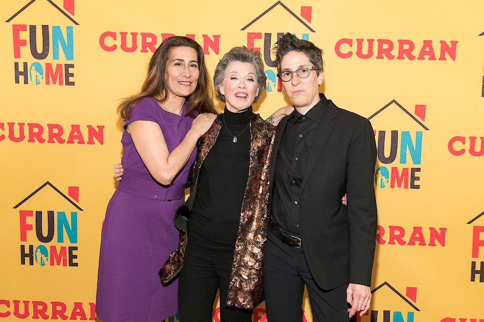 (L to R): FUN HOME composer Jeanine Tesori, Carole Shorenstein Hays, and Fun Home author Alison Bechdel